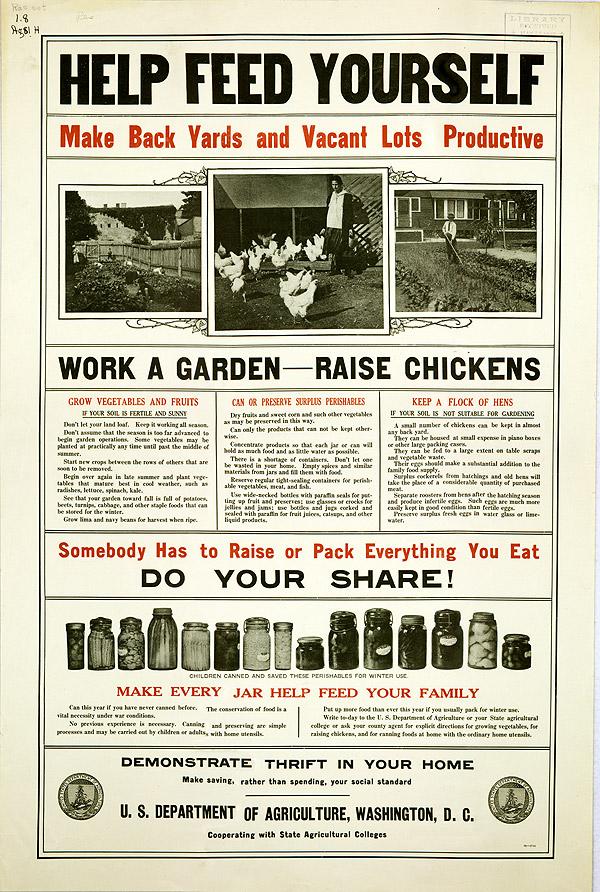 USDA poster, 1917