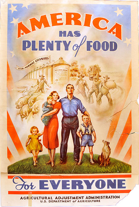 An Exhibition of Posters by Agricultural Adjustment Act Posters